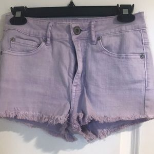 Lavender Denim Shorts